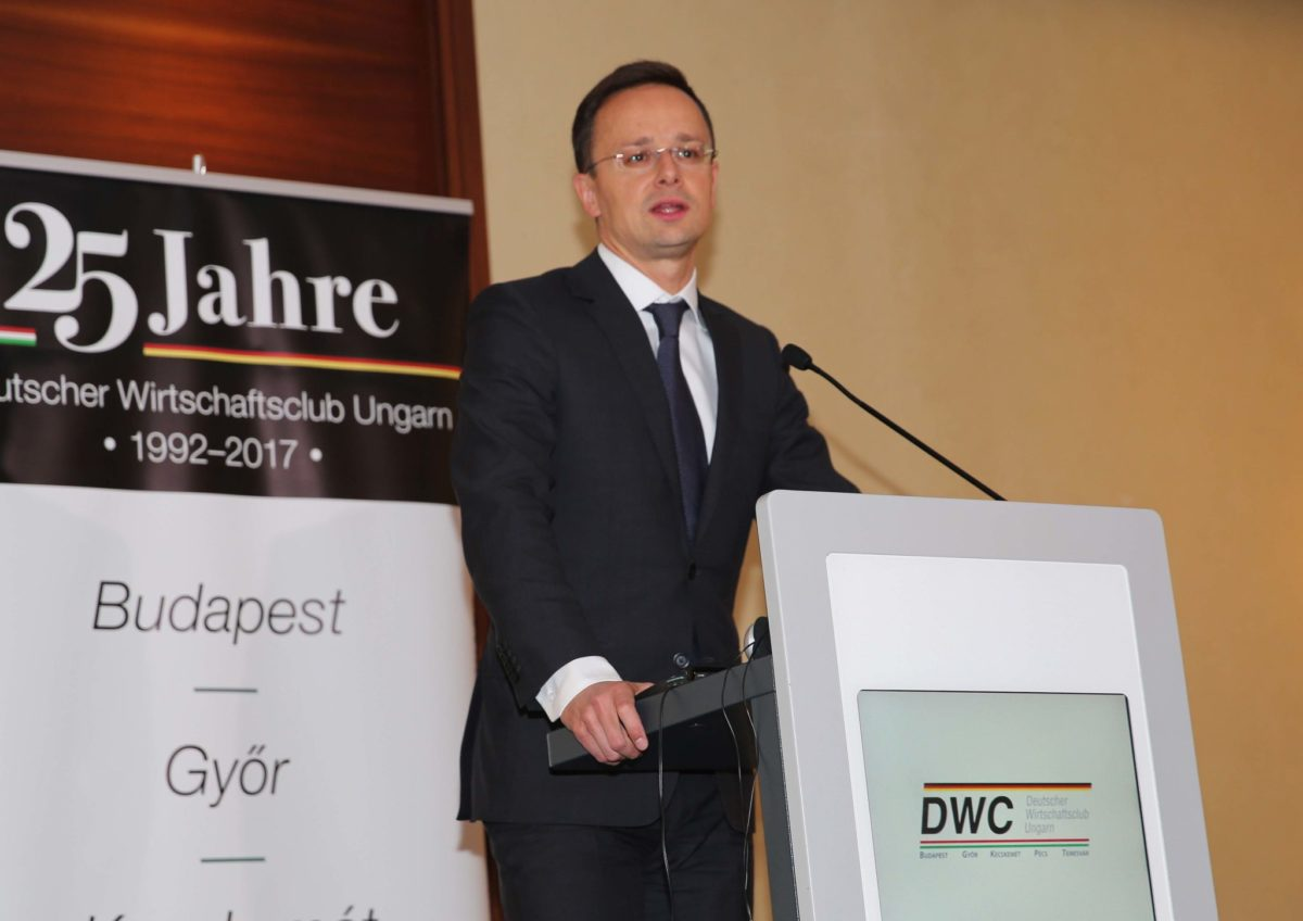 Vortrag von Minister Szijjártó