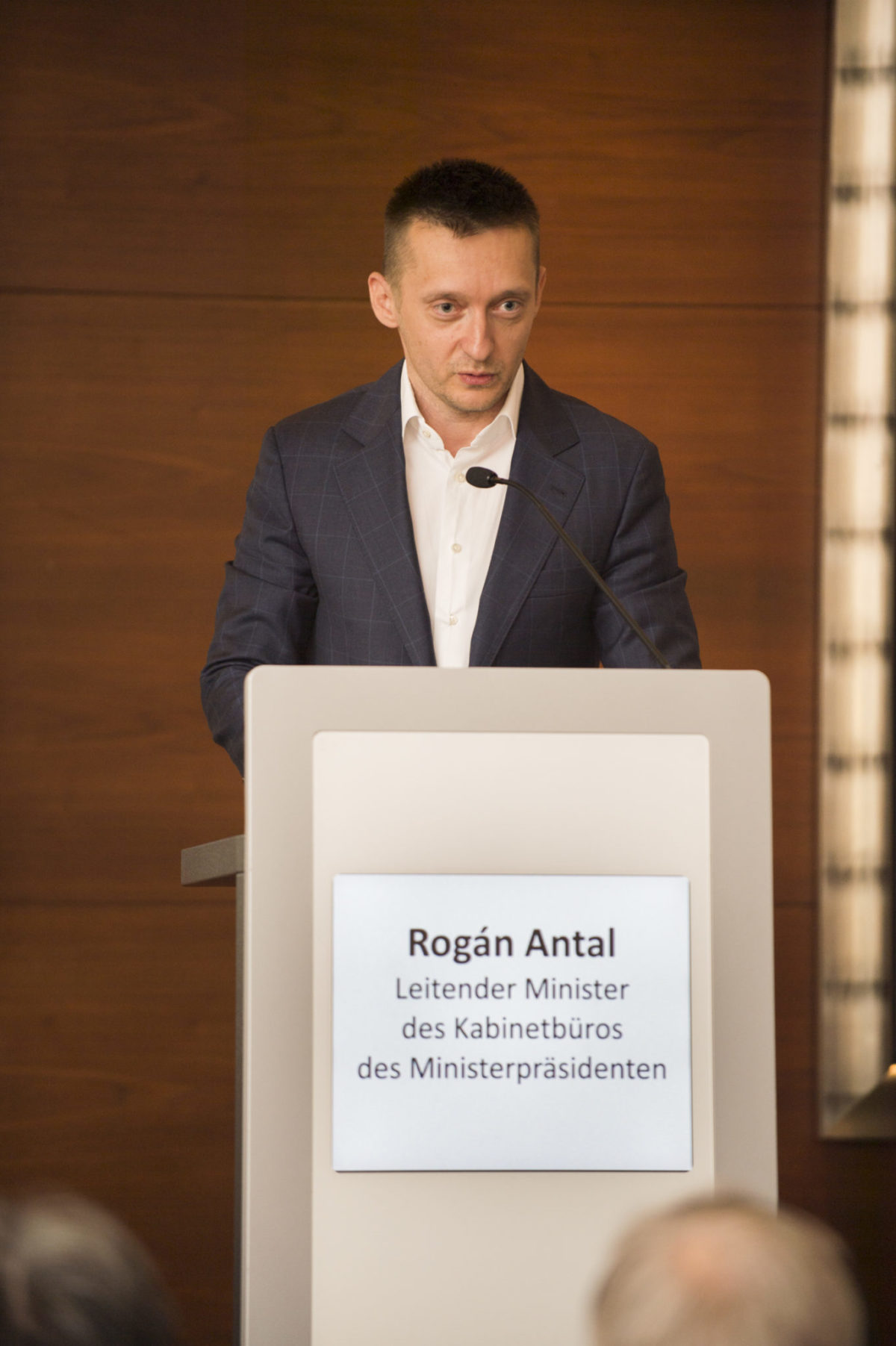 Vortrag von Minister Antal Rogán