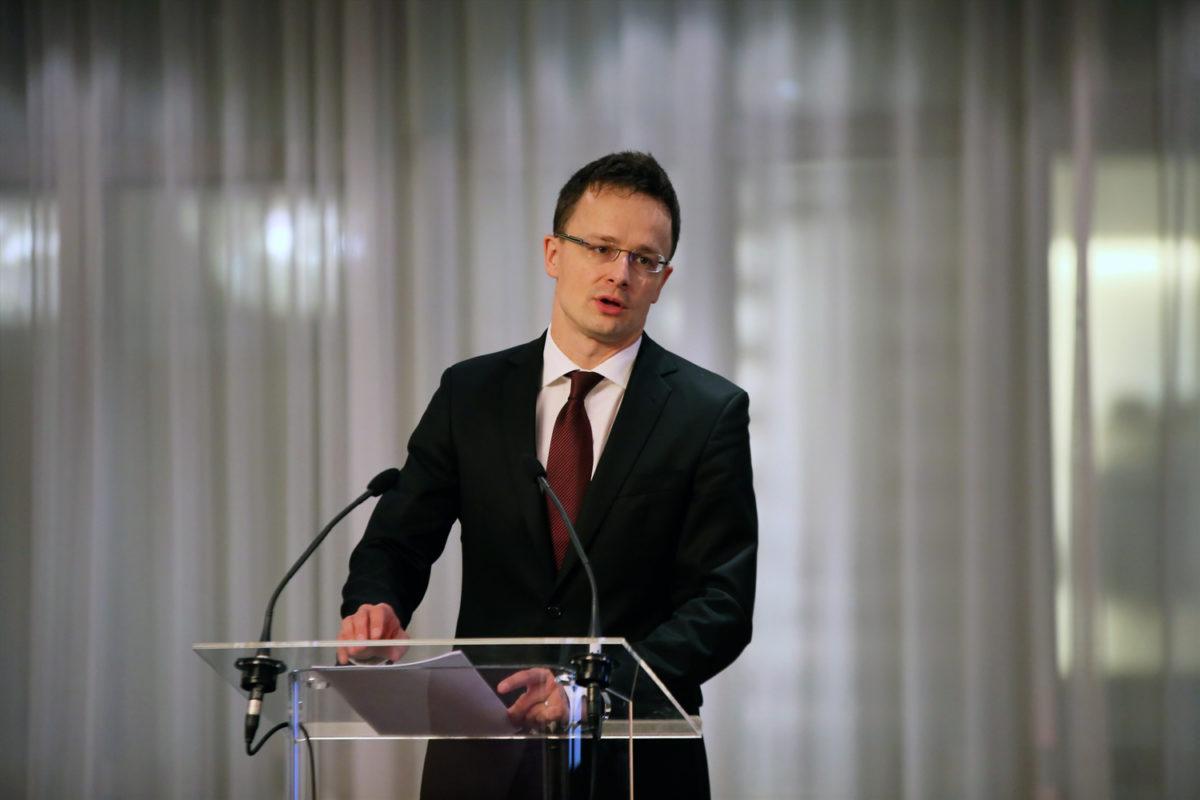 Vortrag von Péter Szijjártó