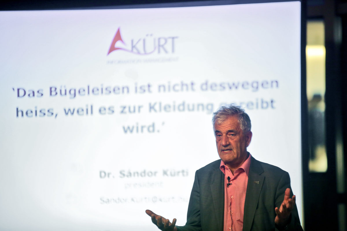 Vortrag von Dr. Sándor Kürti